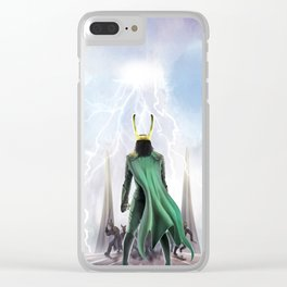 God Of Mischief Clear iPhone Case