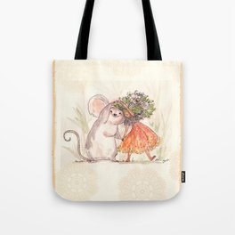 Thumbelina and the Mouse! Tote Bag