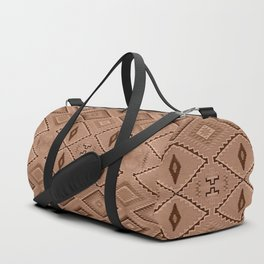 Abstract Pattern inspired by Navajo Weaving in Earthtones Duffle Bag