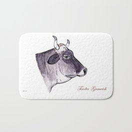 Tiroler Grey | Alpine cow Bath Mat