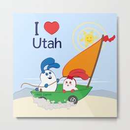 Ernest and Coraline | I love Utah Metal Print