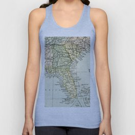 Vintage Map of the South Of The United States Of America Unisex Tank Top