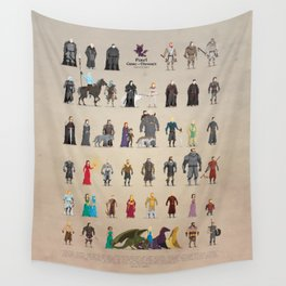 Game of Pixel Thrones Wall Tapestry