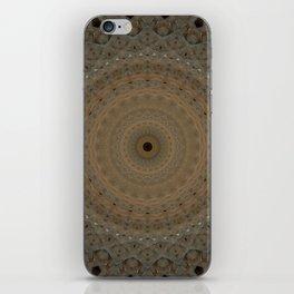 Beige mandala with geometric ornaments iPhone Skin