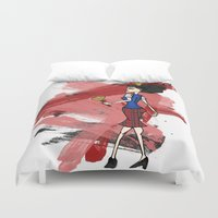 evil queen Duvet Covers featuring Disneyland Queen of Hearts - Evil Relations by Joey Noble