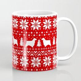 English Cocker Spaniel Silhouettes Christmas Sweater Pattern Coffee Mug