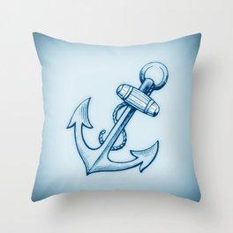 Nautical Anchor 2 Throw Pillow