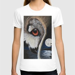 Eagle Owl - The Watcher - by LiliFlore T-shirt