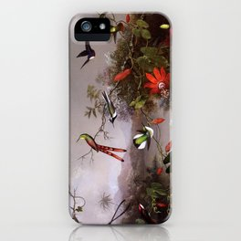 Martin Johnson Heade - Tropical Landscape with Ten Hummingbirds - 10 iPhone Case