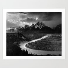 The Tetons and the Snake River  Art Print