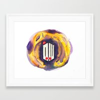 doctor who Framed Art Prints featuring Doctor Who by foreverwars