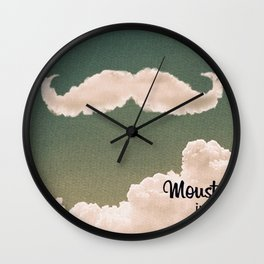Mustache In the Cloud Wall Clock