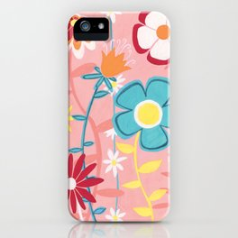 Flowers on Pink iPhone Case