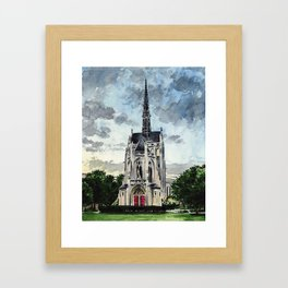 Heinz Chapel Pittsburgh University Cathedral of Learning Framed Art Print