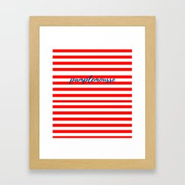 Pamplemousse with horizontal red stripes Framed Art Print