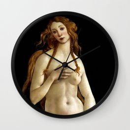 """Sandro Botticelli """"Venus"""" (Gemäldegalerie, Berlin) Wall Clock"""