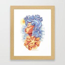 Summer Goddess Framed Art Print