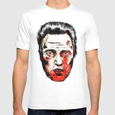 Walken Dead Mens Fitted Tee White MEDIUM