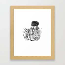 Sketch of Jang Seung Hoon Framed Art Print