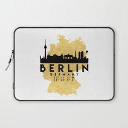 BERLIN GERMANY SILHOUETTE SKYLINE MAP ART Laptop Sleeve