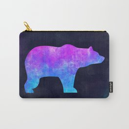 BEAR IN SPACE // Animal Graphic Art // Watercolor Canvas Painting // Modern Minimal Cute Carry-All Pouch