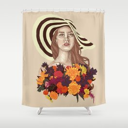 A flower between flowers // Del Rey with a bouquet Shower Curtain