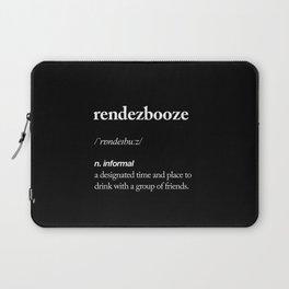 Rendezbooze black and white contemporary minimalism typography design home wall decor black-white Laptop Sleeve