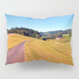 Country road with scenery | landscape photography Pillow Sham