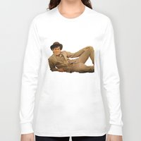 caleb troy Long Sleeve T-shirts featuring Troy by Eddie Frietas