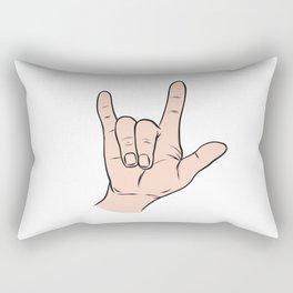LOVE You Sign Rectangular Pillow