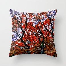 Raging Trees Throw Pillow