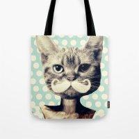 kitten Tote Bags featuring Kitten by zumzzet