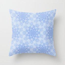 Star Vortex - Color: Cerulean Sky Throw Pillow
