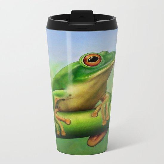 Moltrecht's Green Treefrog Metal Travel Mug