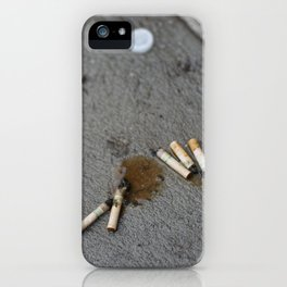 5 Menthols and a Water Bottle Cap iPhone Case