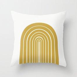 Rainbow Sunshine Throw Pillow