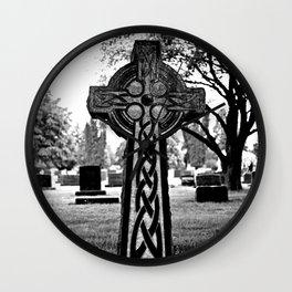 NW Celtic cross Wall Clock
