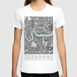London Map Print T-shirt
