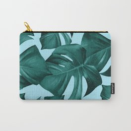 Monstera Leaves Pattern #7 #tropical #decor #art #society6 Carry-All Pouch