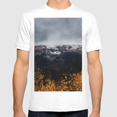 Yellow Tree Moutain Mens Fitted Tee White MEDIUM