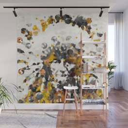 Modern Yellow Native American Indian Chief Wall Mural