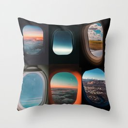 Aircraft windows Throw Pillow