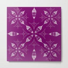 Lanterns of Morocoo violet Metal Print
