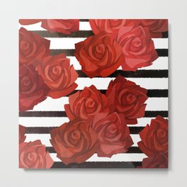 Red Rosy Style Metal Print