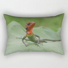 Gecko iguana Red Head Rectangular Pillow