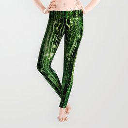 Magical Forest Green Elegance Leggings