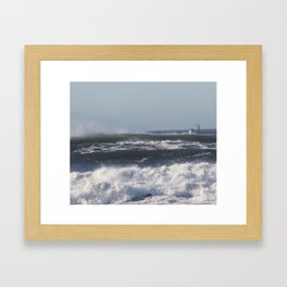 Fishing Pacific Coast Framed Art Print