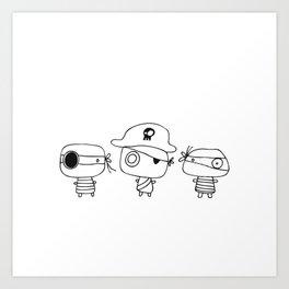 Three pirates, colour yourself Art Print