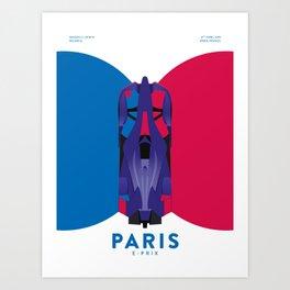 Paris E-Prix 2019 Art Print