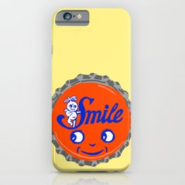 Smile bottle cap lefty iPhone Case